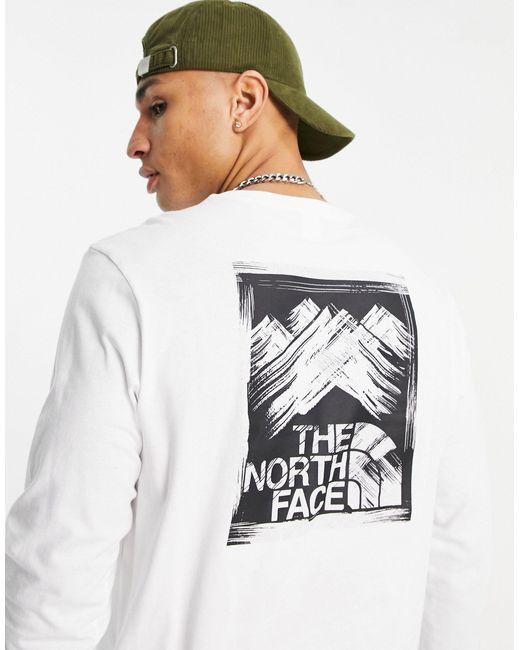 Белый Лонгслив Stroke Mountain The North Face для него, цвет: White