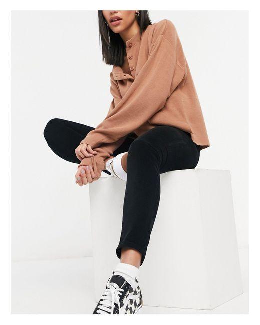 TOPSHOP Black Cord Jamie Skinny Jeans