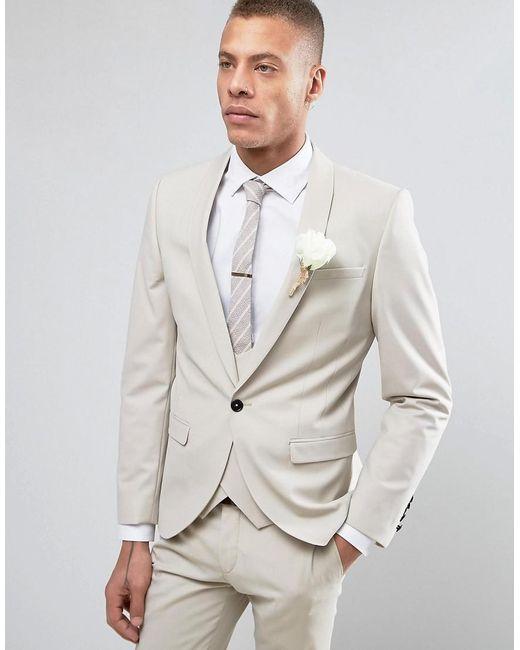 7329b3d7c78e Noose And Monkey - Natural Super Skinny Wedding Suit Jacket for Men - Lyst  ...