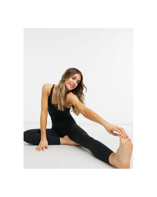 Укороченный Присборенный Комбинезон Длиной 7/8 Черного Цвета Nike Yoga Luxe-черный Цвет Nike, цвет: Black