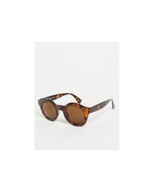 Солнцезащитные Очки В Круглой Оправе С Черепаховым Принтом В Стиле Унисекс -коричневый Цвет A.J. Morgan, цвет: Brown