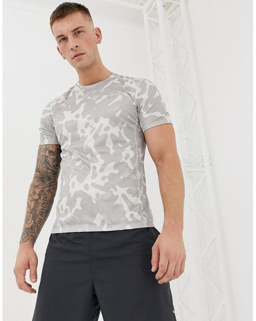 0fb418a0c Nike - Gray Camo T-shirt In Grey Av4793-059 for Men - Lyst ...