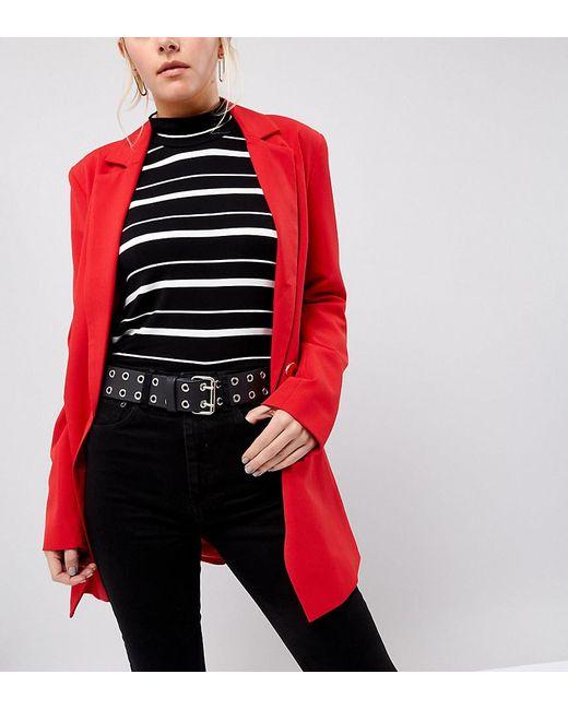 Retro Luxe London - Black Retro Luxe Eyelet Detail Waist Belt - Lyst
