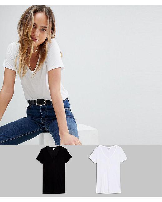 ASOS - Multicolor Asos Design Tall V-neck Swing T-shirt 2 Pack Save 15% - Lyst