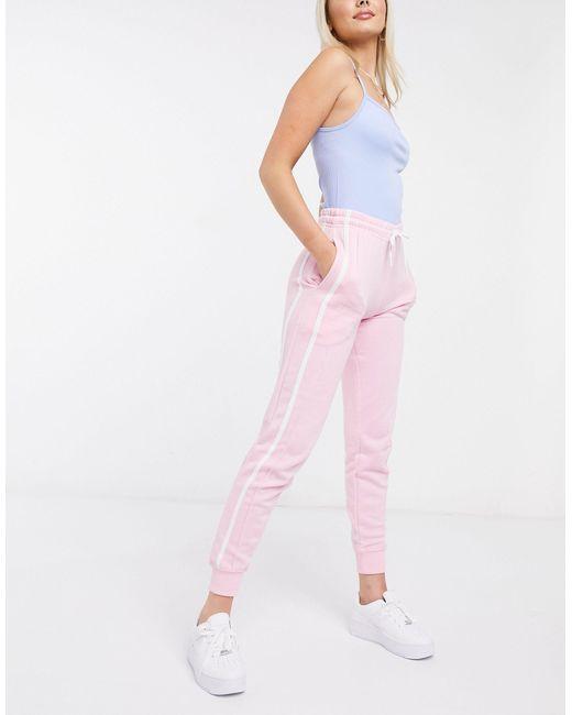 Бледно-розовые Джоггеры С Полосками По Бокам -розовый Цвет New Look, цвет: Pink