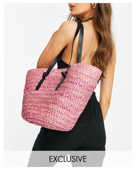 Соломенная Сумка-тоут Розового Цвета -розовый Цвет South Beach, цвет: Pink