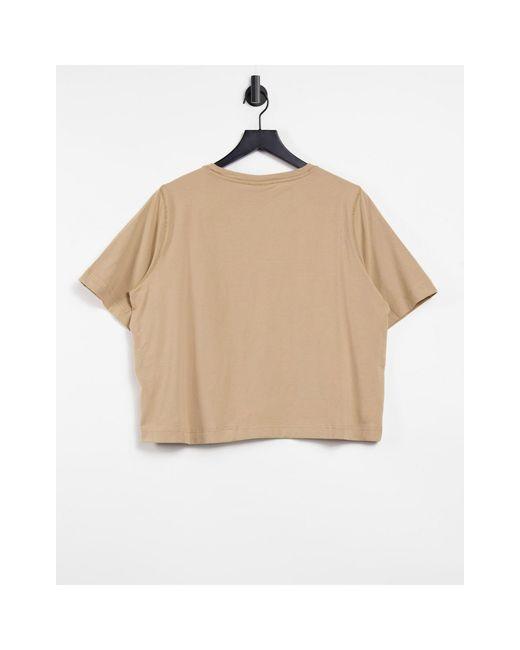 Camiseta camel Weekday de color Natural