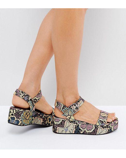 ASOS | Multicolor Toucan Wedge Sandals | Lyst