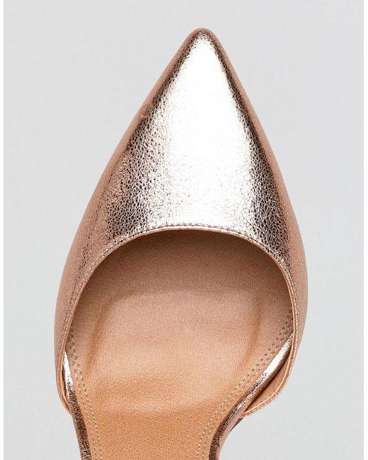DESIGN Plaza Wide Fit Embellished High Heels - Nude metallic Asos EFkLSytLHq