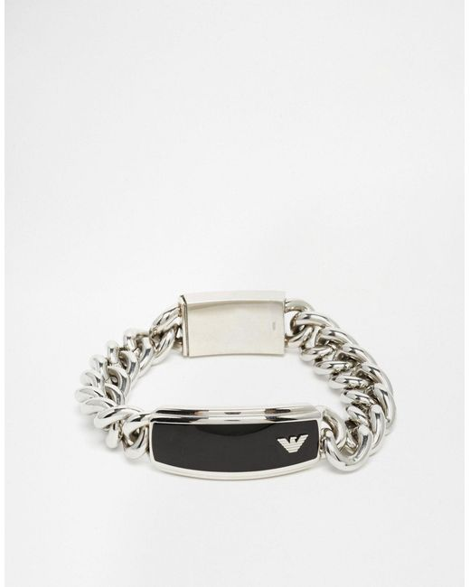 Emporio Armani   Metallic Eagle Bracelet for Men   Lyst