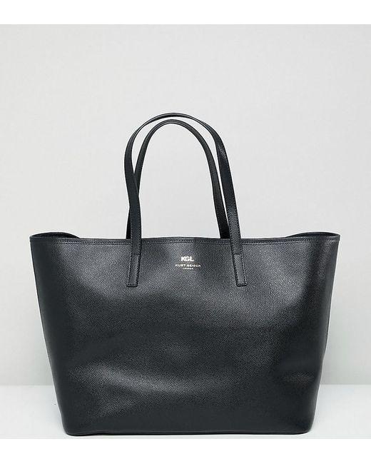 Kurt Geiger - Black Kurt Geiger Saffiano Leather Tote Shopper Bag - Lyst