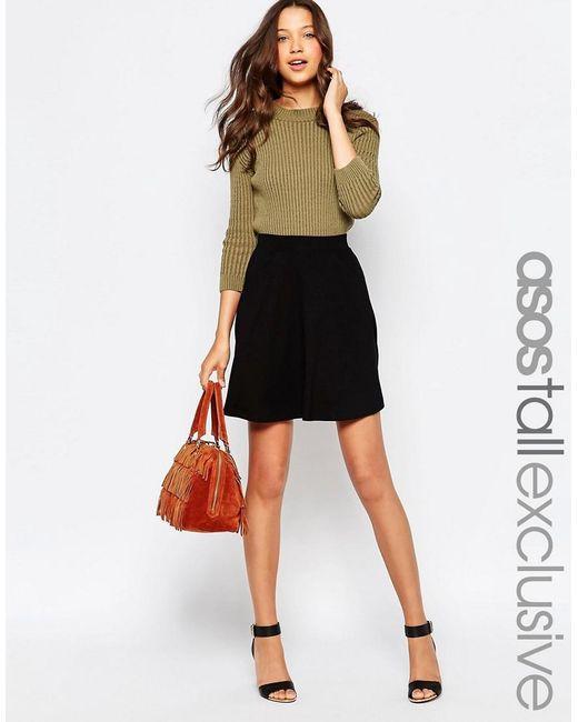 ASOS | Black Tall Skater Skirt With Pockets | Lyst