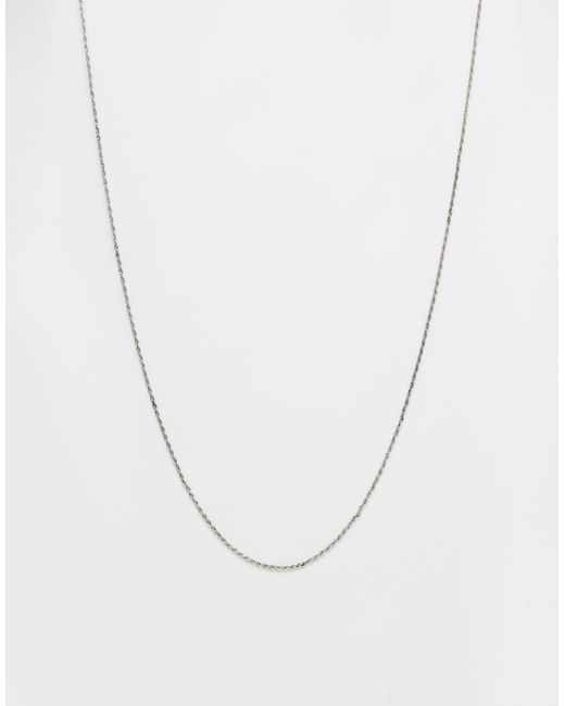 ASOS | Metallic Rope Necklace for Men | Lyst