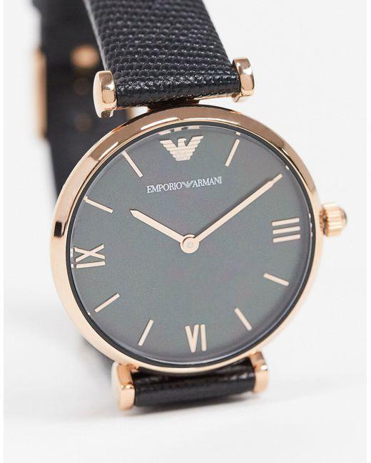 Часы С Черным Ремешком Ar11060-черный Armani для него, цвет: Black