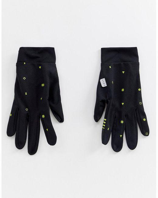 Gants de course avec imprimé aztèque fluo - Noir ASOS 4505 pour homme en coloris Black