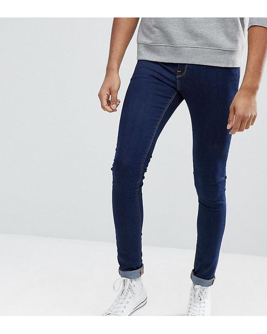 ASOS DESIGN - Asos Tall Extreme Super Skinny Jeans In Raw Blue for Men - Lyst