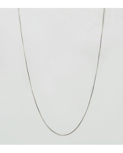 ASOS DESIGN - Metallic Sterling Silver Chain for Men - Lyst