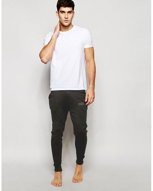 Jack & Jones | Black Cuffed Joggers In Slim Fit for Men | Lyst