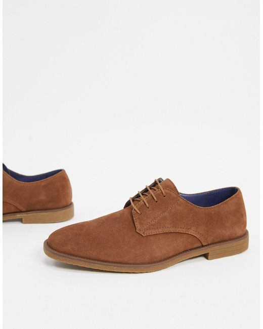 Светло-коричневые Замшевые Дерби -коричневый Цвет Burton для него, цвет: Brown