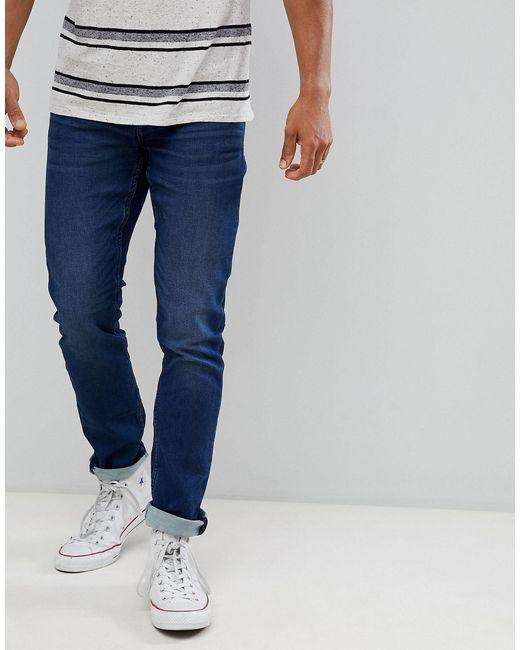 Only & Sons – Schmale Jeans im Mittelblau in Blue für Herren