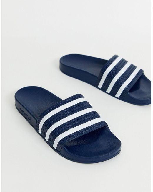 Шлепанцы Adilette 288022-голубой Adidas Originals для него, цвет: Blue