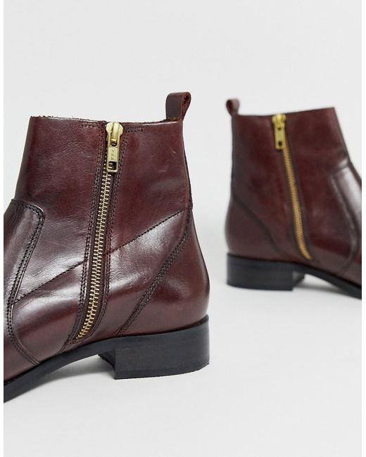 good look out for online here Carvela Kurt Geiger Leather Flat Ankle Boots in Red - Lyst