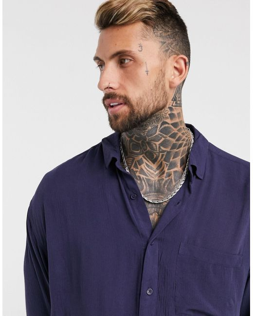 Camicia oversize anni '90 di ASOS in Blue da Uomo