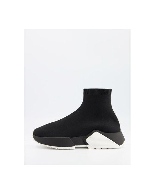 ASOS Black Della Sock Sneakers