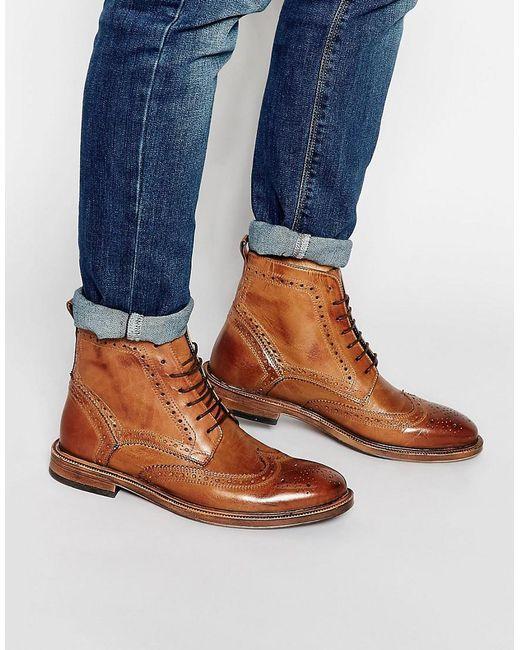 6ec37610bc8 Men's Brown Kg By Kurt Geiger Brogue Boots