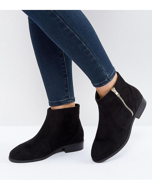 ASOS - Black Accused Wide Fit Ankle Boots - Lyst