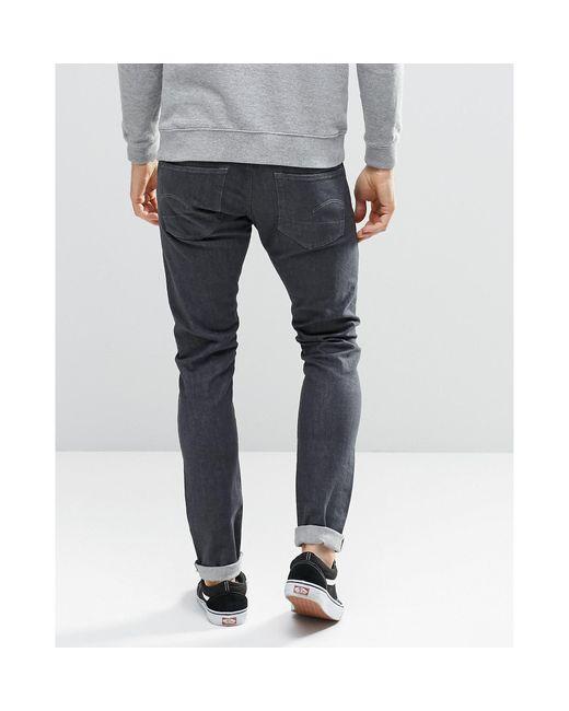 star raw defend super slim denim jeans in gray for men save 43. Black Bedroom Furniture Sets. Home Design Ideas