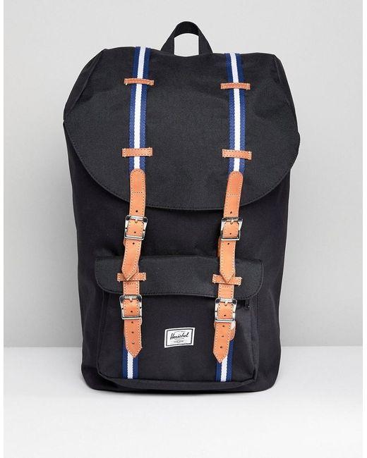 Herschel Supply Co. - Black Little America Offset Backpack 25l for Men - Lyst