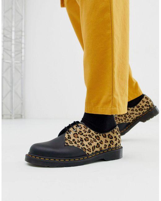 Ботинки С Леопардовым Принтом И Люверсами 1461 Dr. Martens для него, цвет: Black