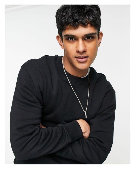 Черный Свитшот -черный Цвет Topman для него, цвет: Black