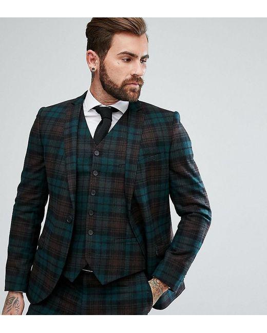 Heart & Dagger - Green Slim Suit Jacket In Plaid for Men - Lyst