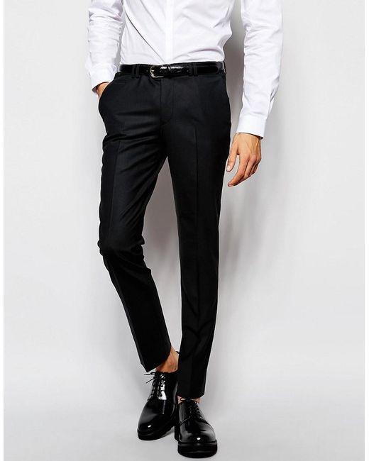 Noak | Black Suit Trousers In Super Skinny Fit for Men | Lyst