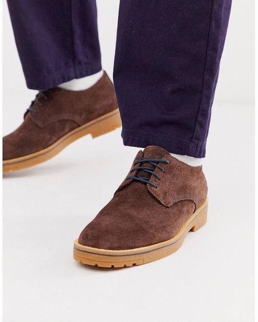 Коричневые Замшевые Туфли На Шнуровке -коричневый Timberland для него, цвет: Brown