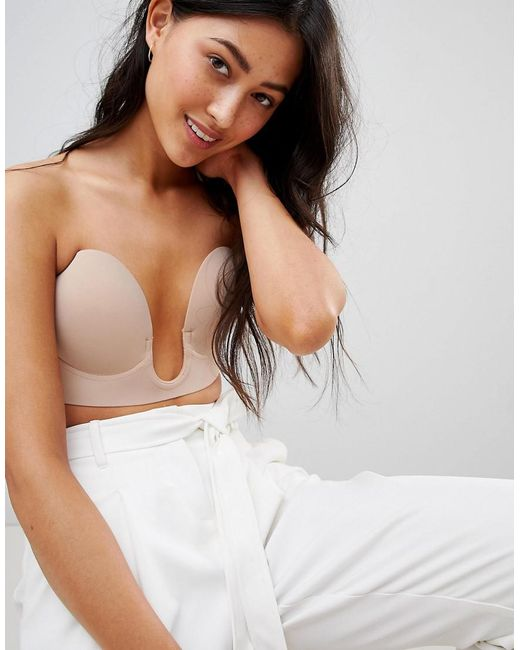 Fashion Forms - Natural U Plunge Backless And Strapless Bra - Lyst