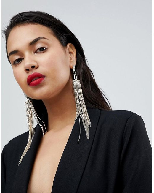 Ivyrevel - Metallic Tassel Chain Earrings - Lyst