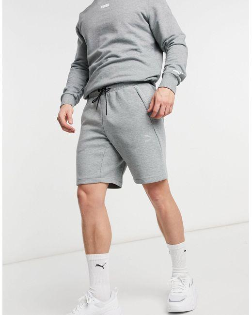 Серые Шорты Classics Tech-серый PUMA для него, цвет: Gray
