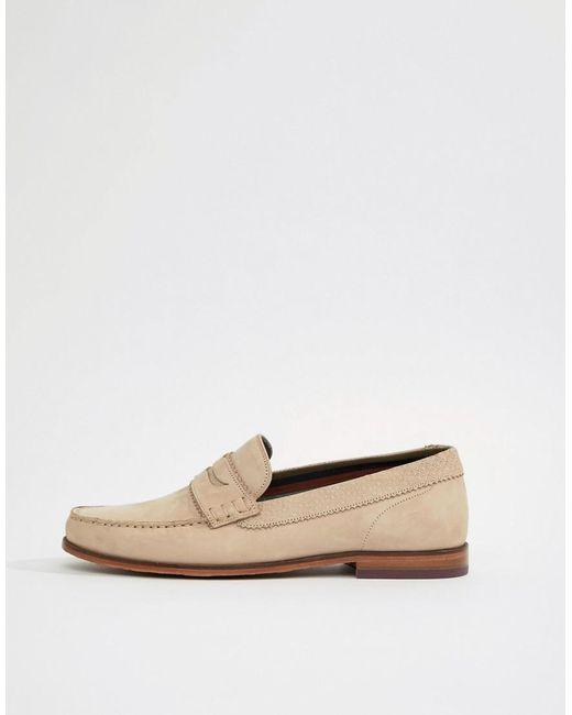 hot sale cheap price Ted Baker Miicke 6 Nubuck Loafers In Beige discount good selling kYnkMd