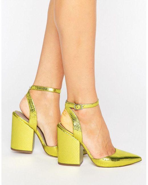 ASOS - Yellow Asos Pick N Mix Pointed Heels - Lyst