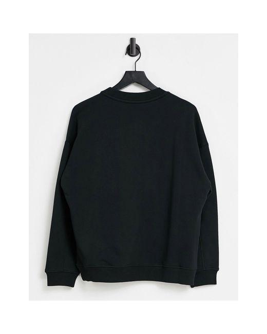 Черный Свитшот С Красным Блестящим Логотипом Love Moschino, цвет: Black