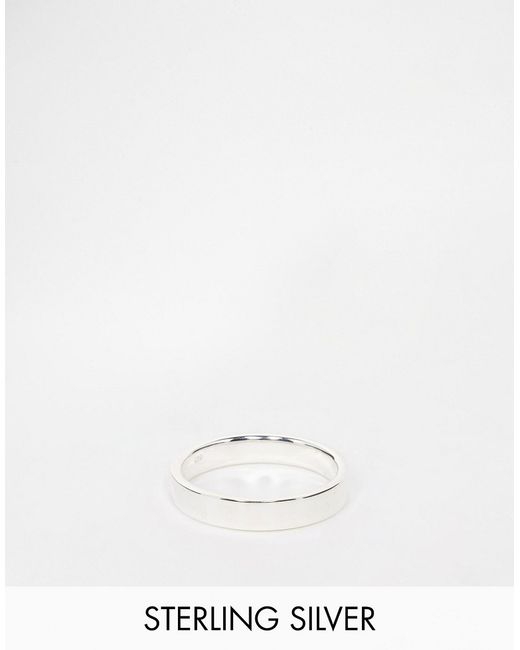 ASOS | Metallic Sterling Silver Ring for Men | Lyst