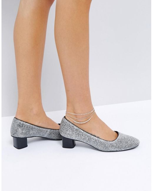 ASOS | Metallic Pack Of 3 Ball And Mixed Chain Anklets | Lyst