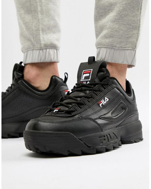 Fila Disruptor Trainer In Black for men