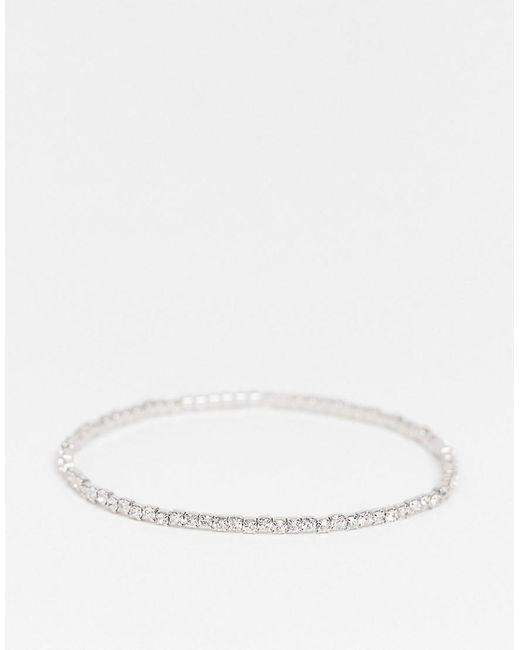 ASOS Metallic Stretch Bracelet With Crystal