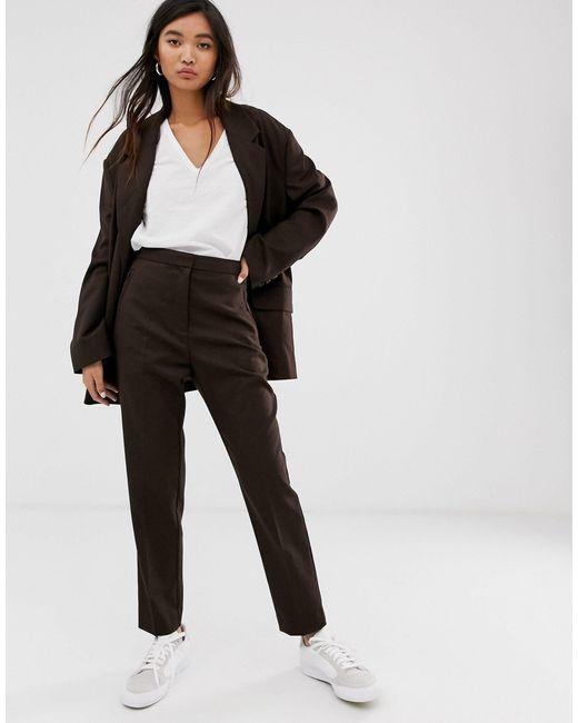 Weekday Pantalones de mujer de color marrón