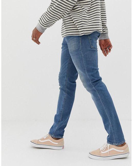 267de194d36 ... Levi's - Blue 512 Slim Tapered Low Rise Jeans In 4 Leaf Clover Light  Wash for