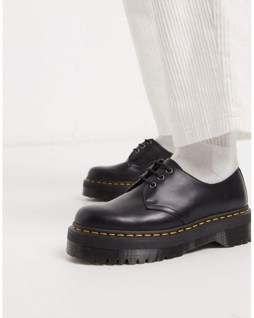 Zapatos con 3 ojales en negro 1461 Quad Dr. Martens de hombre de color Black